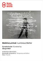 cover folha de sala Materia Luminal / Cover brochure Luminous Matter