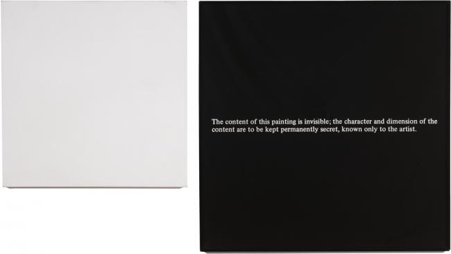 Arte & Language, Secret Painting (Ghost, 1968
