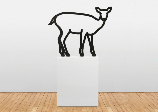 Julian Opie, Deer 3. 2019. Tinta de automóvel sobre alumínio / Auto paint on aluminium