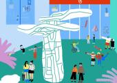 Uma família em movimento pela Abstração  6-12 anos | 26 de junho | 15h00 | Inscrição prévia (máximo de 5 crianças mais 1 adulto por criança) | Entrada e participação gratuitas.