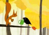 o passarinho e o esquilo