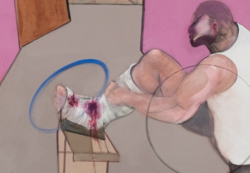 Francis Bacon, Oedipus and the Sphinx after Ingres, 1983. Museu Coleção Berardo. (detalhe)