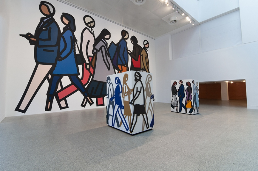 """Julian Opie no Museu Coleção Berardo """"Obras Inéditas"""", vista da exposição /  Julian Opie at Museu Coleção Berardo  """"New Works"""", view of the exhibition"""