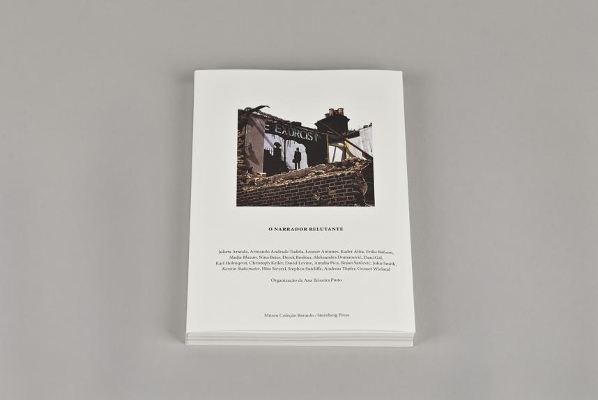 Capa do livro O Narrador Relutante. Museu Coleção Berardo, 2014.