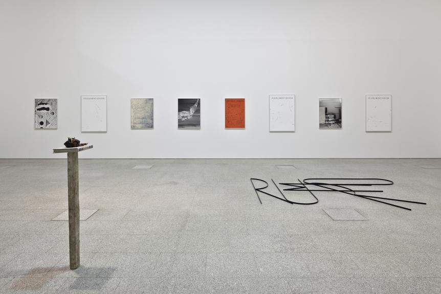 Vista da exposição / View of the exhibition Pedro Barateiro. Palmeiras Bravas/The Current Situtation. Museu Coleção Berardo, 2015.