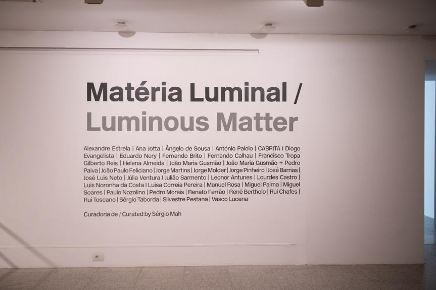 Matéria Luminal / Luminous Matter Vista da exposição / view of the exhibition  Foto / Photo: Rita Carmo