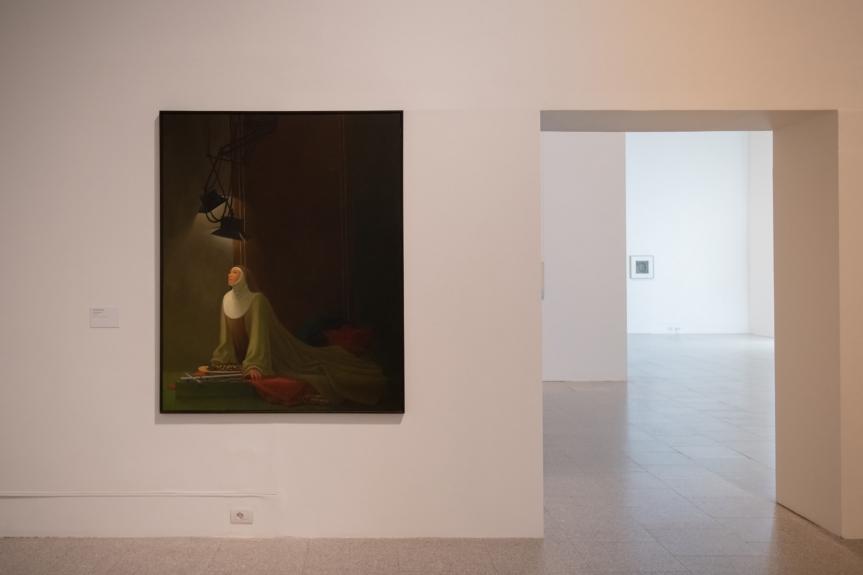 Jorge Pinheiro, Soror Salomé, 1990. Exposição Matéria Luminal / Exhibition Luminous Matter, Museu Coleção Berardo Foto/ Photo: Rita Carmo, vista da exposição / view of the exhibition