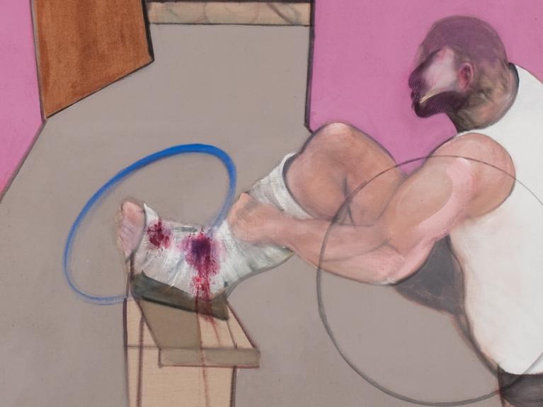 Francis Bacon, Oedipus and the Sphinx after Ingres, 1983. Museu Coleção Berardo. (detalhe)