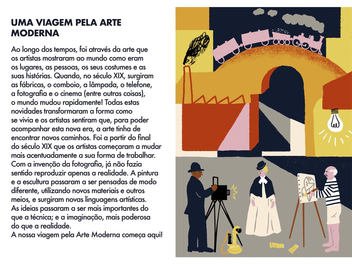 Uma Viagem Pela Arte Moderna -  Spread 1  | MCB_OnlineKids